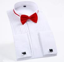 Bíla manžetová košile, velikost 43
