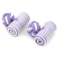 Manžetové knoflíčky elastické fialovobíle