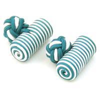 Manžetové knoflíčky elastické zelenobíle