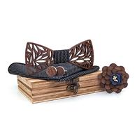 Dřevěné manžetové knoflíčky s motýlkem Svarog