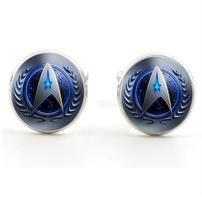 Manžetové knoflíčky Star Trek modré