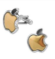 Manžetové knoflíčky apple zlaté