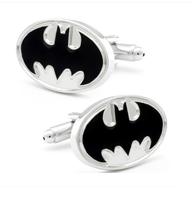 Manžetové knoflíčky Batman (Betman) bílá