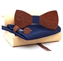 Dřevěné manžetové knoflíčky s motýlkem Dažbog