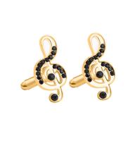 Manžetové knoflíčky houslový klíč gold