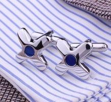 Manžetové knoflíčky hvězdice s modrým okem
