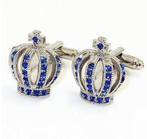 Manžetové knoflíčky koruna modrá