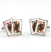 Manžetové knoflíčky poker dámy