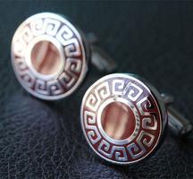 Manžetové knoflíčky řecký znak kulaté