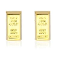 Manžetové knoflíčky zlatá cihla