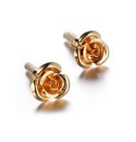 Manžetové knoflíčky zlatý květ