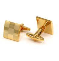 Manžetové knoflíčky šachovnice gold