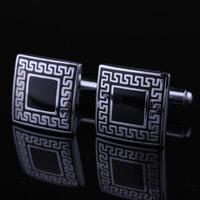 Manžetové knoflíčky - antický znak - čtverec