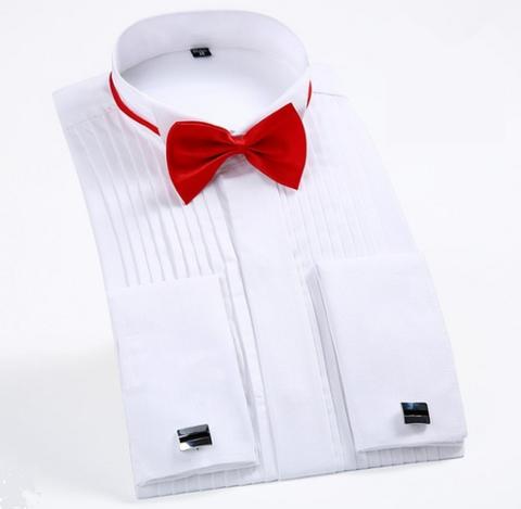 Bíla manžetová košile, velikost 43 - 1