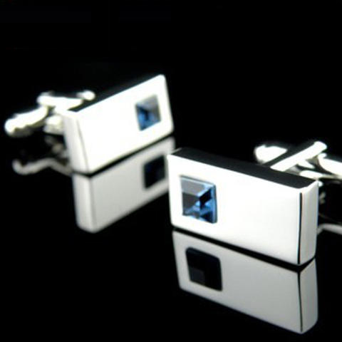 Manžetové knoflíčky - modrý krystal