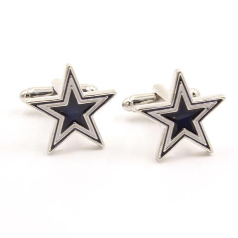 Manžetové knoflíčky Black star - 1