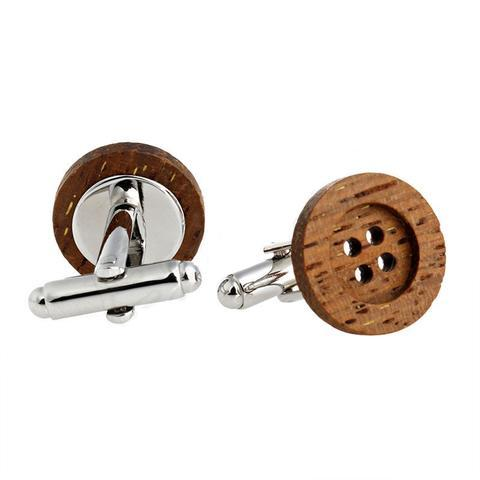 Manžetové knoflíčky dřevěný knoflík - 1