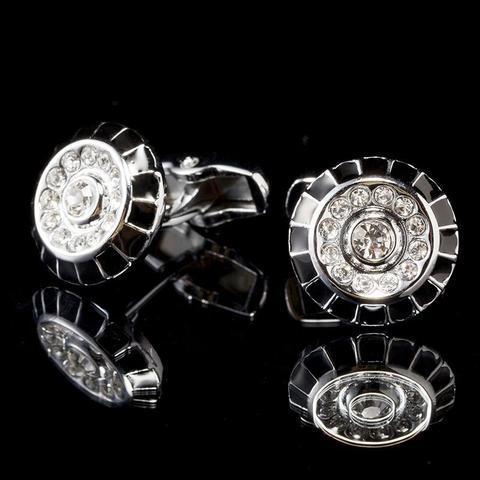 Manžetové knoflíčky zdobený kruh - 1