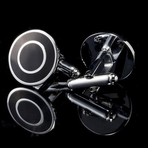 Manžetové knoflíčky černý terč - 1