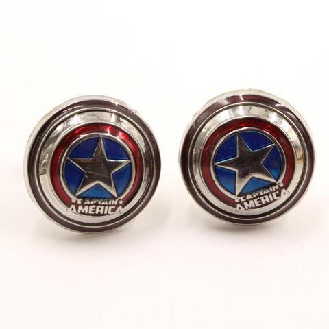 Manžetové knoflíčky Kapitán Amerika štít - 1