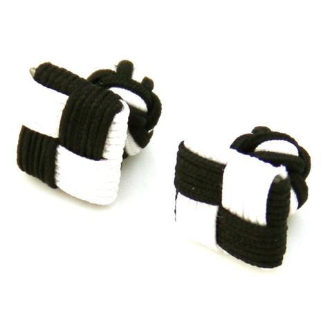 Manžetové knoflíčky elastické černobíle