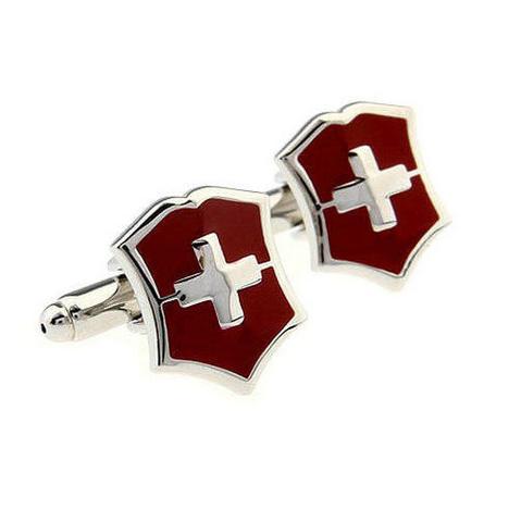 Manžetové knoflíčky Švýcarský znak - 1