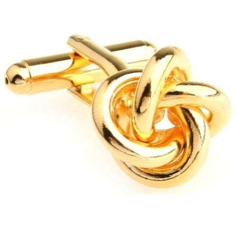 Manžetové knoflíčky uzlíčky gold - 1