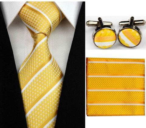 Manžetové knoflíčky s kravatou - Iris - 1