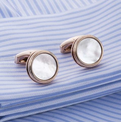 Manžetové knoflíčky perleť natur - 1