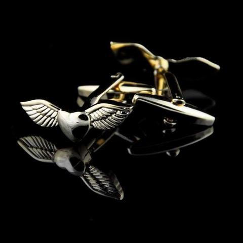 Manžetové knoflíčky andělská křídla gold