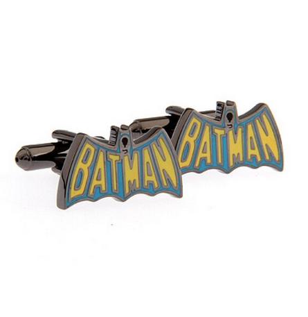 Manžetové knoflíčky Batman barevné logo - 1