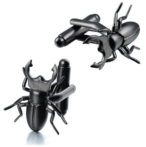 Manžetové knoflíčky brouk Roháč obecný, Lucanus cervus, entomolog
