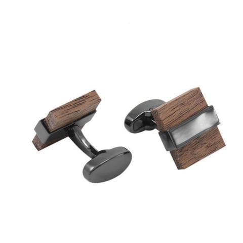 Manžetové knoflíčky dřevo čtvereček - 1