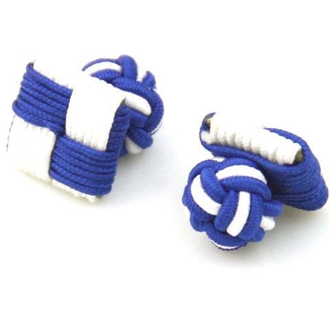 Manžetové knoflíčky elastické modrobílé čtverec