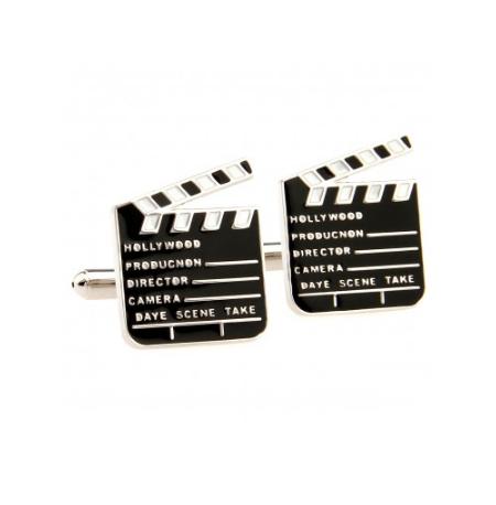 Manžetové knoflíčky filmová klapka - 1