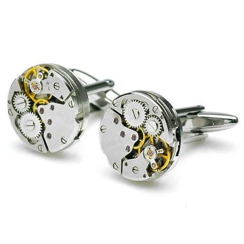 Manžetové knoflíčky hodinový strojek - 1