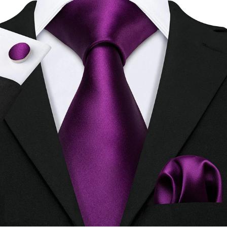 Manžetové knoflíčky s kravatou fialová - Aiglé