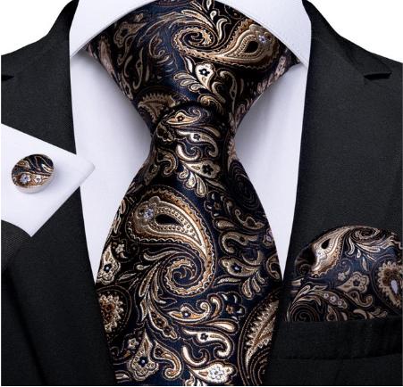 Manžetové knoflíčky s kravatou Hypnos