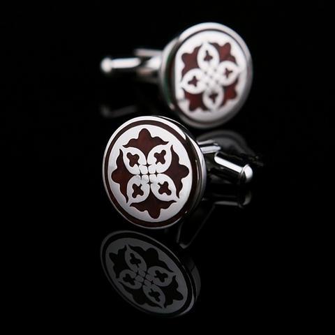Manžetové knoflíčky kruhový ornament - 1