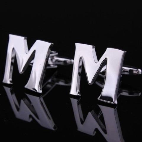 Manžetové knoflíčky písmeno M a K