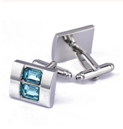 Manžetové knoflíčky Modrý kámen - 1