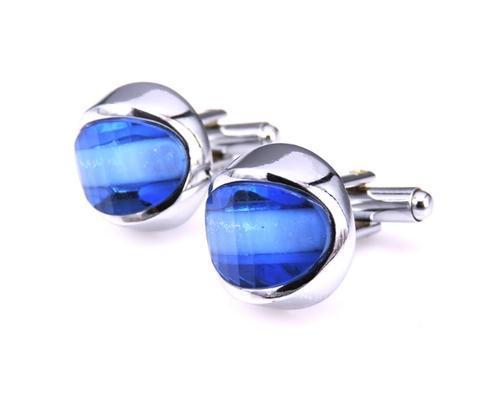 Manžetové knoflíčky modré oko - 1