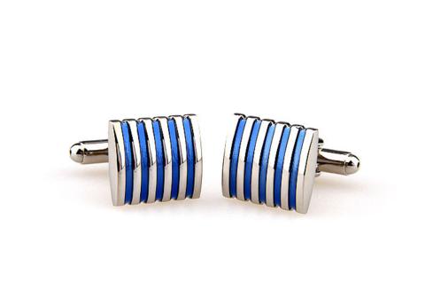 Manžetové knoflíčky modro-ocelové