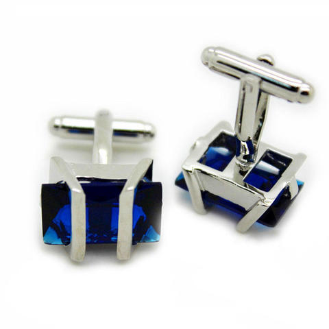 Manžetové knoflíčky Gemstone modrý - 1
