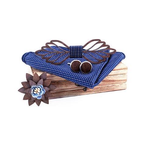 Dřevěné manžetové knoflíčky s motýlkem Viena