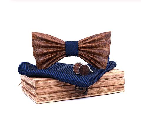 Dřevěné manžetové knoflíčky s motýlkem Venezia