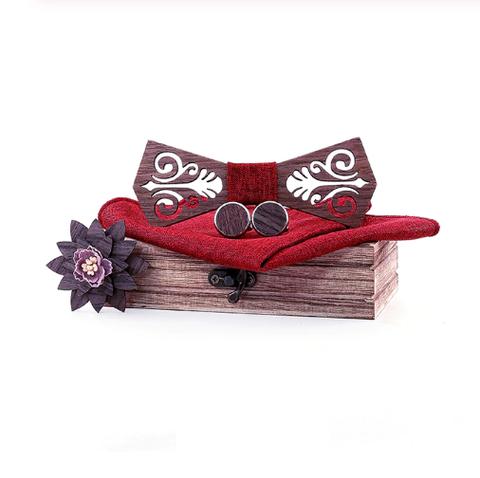 Dřevěné manžetové knoflíčky s motýlkem Oslo