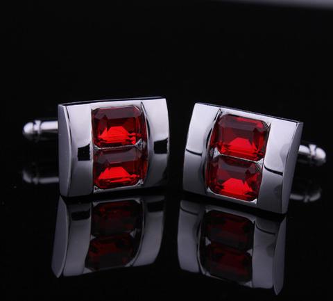 Manžetové knoflíčky crystal - typ rubín