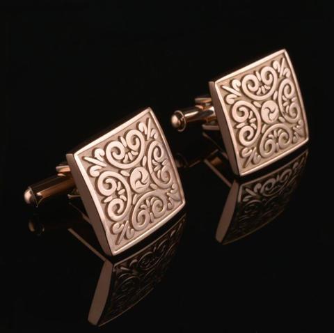 Manžetové knoflíčky ornament zlaté - 1