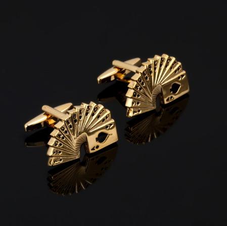 Manžetové knoflíčky zlatý paravan